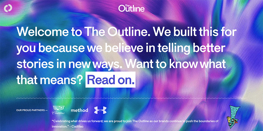 Joshua Topolsky's The Outline Screenshot